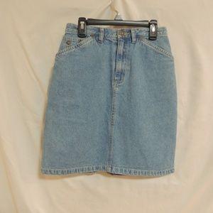 Liz Claiborne Lizwear Denim Vintage Jean Skirt Sz